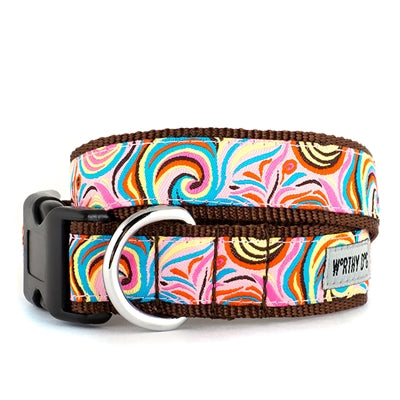 The Worthy Dog Swirly Collar & Lead Collection Cat Collar - Paw Naturals