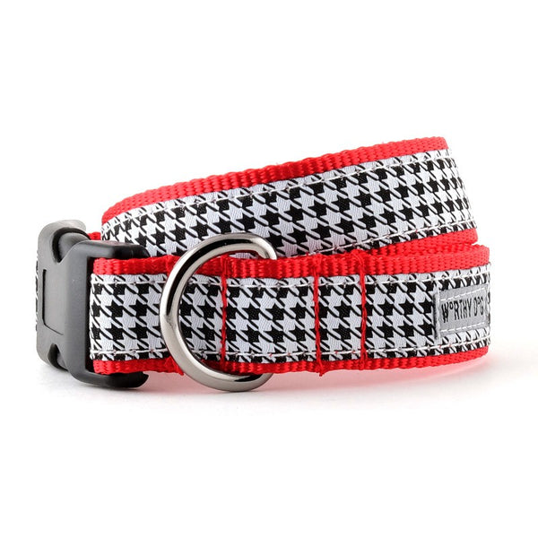 The Worthy Dog B&W Houndstooth Collar & Lead Collection