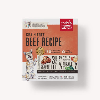 Honest Kitchen Grain-Free Beef Dehydrated Dog Food 1.75oz - Paw Naturals