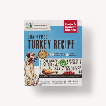 Honest Kitchen Grain-Free Turkey Dehydrated Dog Food - Paw Naturals