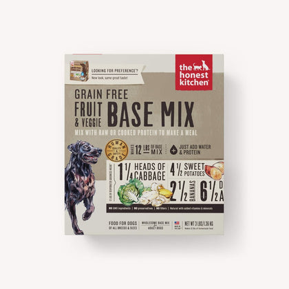 Honest Kitchen Grain-Free Fruit & Vegetable Base Mix Dehydrated Dog Food - Paw Naturals