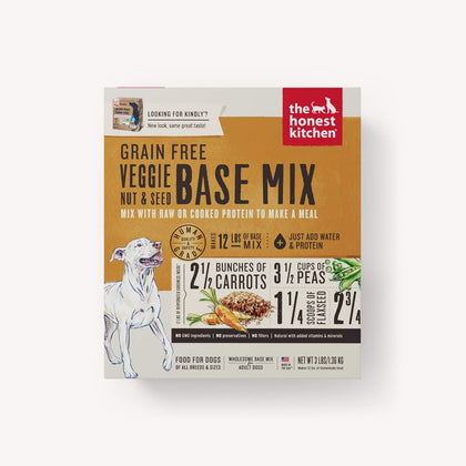 Honest Kitchen Grain-Free Veggie, Nut & Seed Base Mix Dehydrated Dog Food 3LB - Paw Naturals