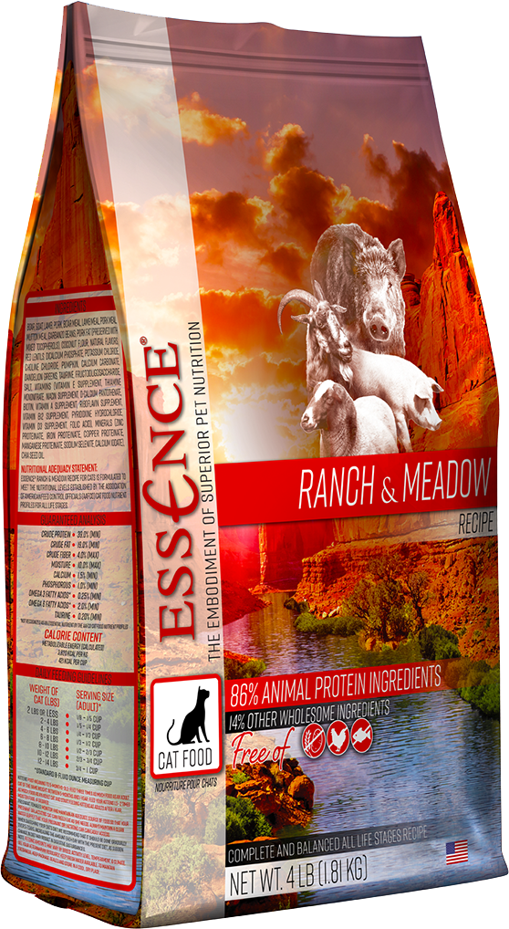 Essence Original Recipe Ranch Meadow Dry Cat Food 4LB