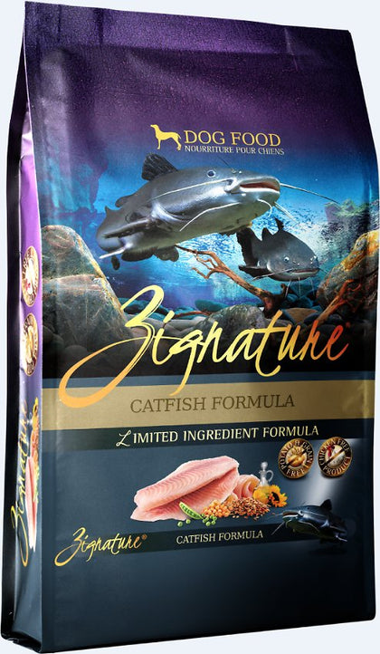 Zignature Catfish Dry Dog Food 13.5LB - Paw Naturals
