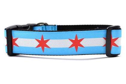 Six Point Pet Chicago Flag Collar - Paw Naturals