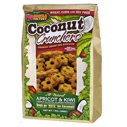 K9 Granola Factory Coconut Crunchers Baked Dog Biscuit Apricot Kiwi - Paw Naturals