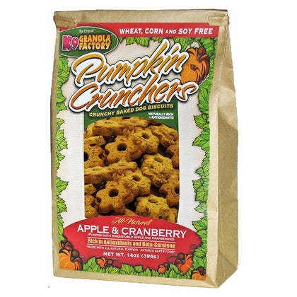 K9 Granola Factory Pumpkin Crunchers Baked Dog Biscuit Apple Cranberry - Paw Naturals
