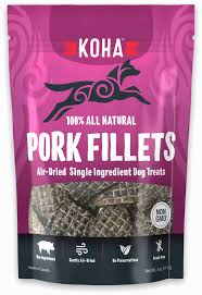 Koha Air-Dried Pork Strip Single Ingredient Dog Treat - Paw Naturals