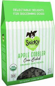 Snicky Snaks Organic Apple Cobbler 10oz Dog Treat