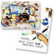 Dog Speak Messy Cake Birthday Card