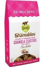 Snicky Snaks Shareable Organic Granola Cluster Coconut Cranberry 6oz Dog Treat