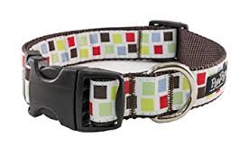 Paw Paws Bark Alley Medium Block Party Dog Collar