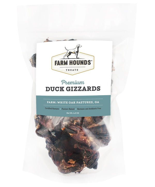 Farm Hounds Duck Gizzards 4.5oz Dog Treat