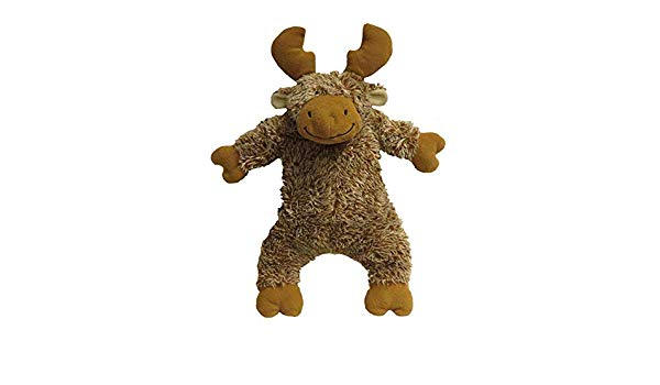 fab dog Fluffy Moose Plush Dog Toy