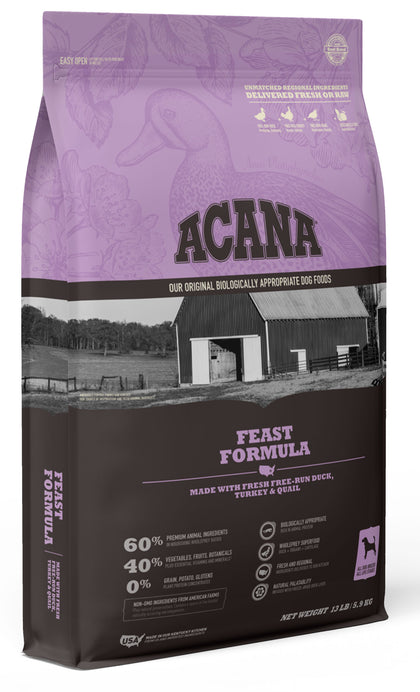 Acana Heritage Feast Dry Dog Food - Paw Naturals