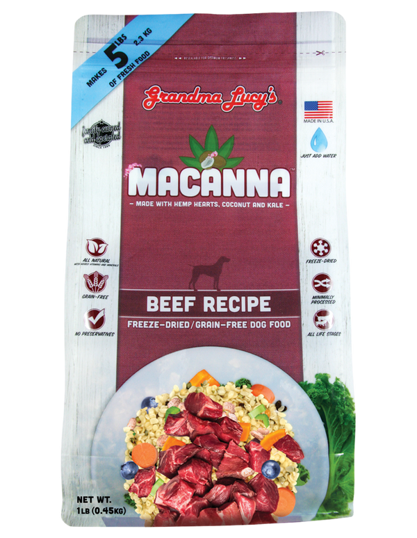 Grandma Lucy's Macanna Beef Raw Freeze-Dried Dog Food