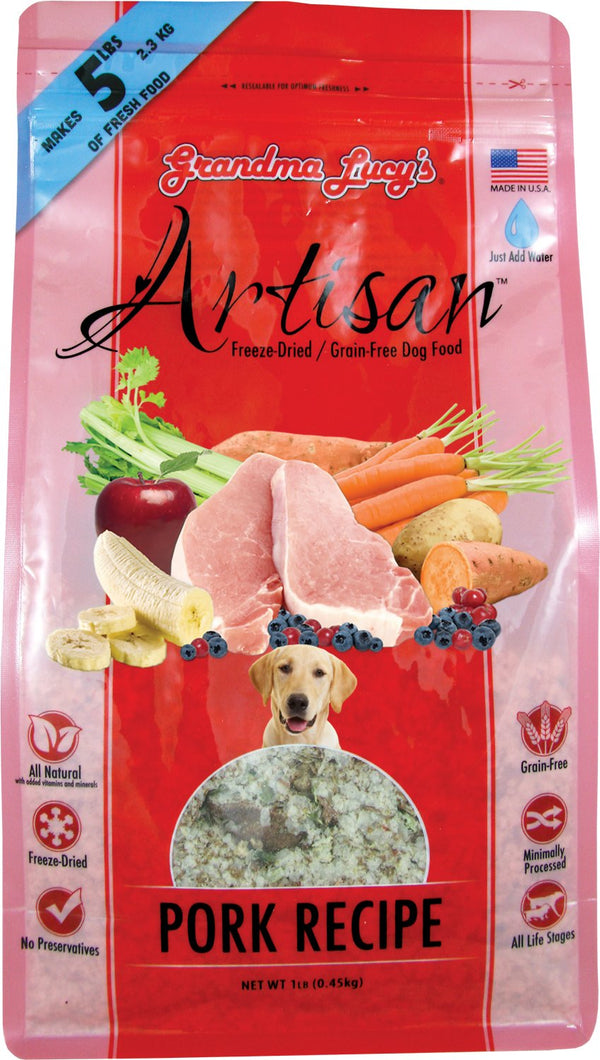Grandma Lucy's Artisan Pork Raw Freeze-Dried Dog Food