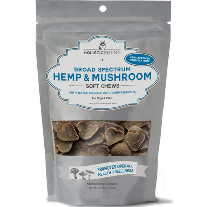 Holistic Hound CBD 6mg Hemp Mushroom Treat 5.29oz - Paw Naturals