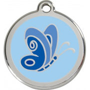 Red Dingo Enamel Pet ID Tag - Butterfly