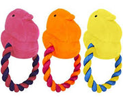 Peeps Chick Plush Rope Dog Toy