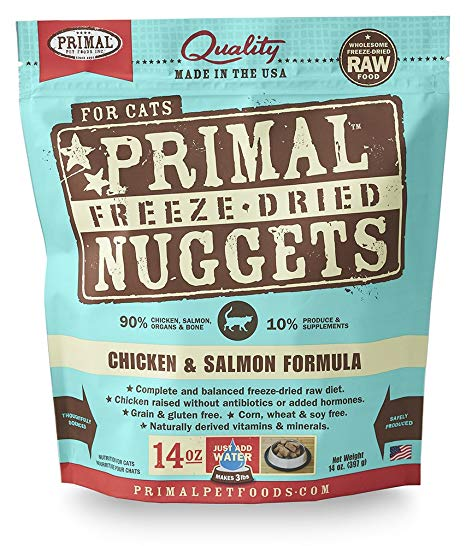 Primal Raw Freeze-Dried Chicken/Salmon Cat Food