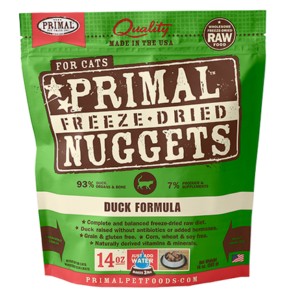 Primal Raw Freeze-Dried Duck Cat Food - Paw Naturals