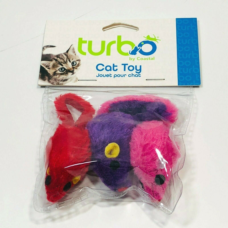 "Coastal Pet Products Turbo 2"" Fur Mice - Rascals Mice Cat Toys"