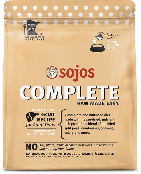 Sojos Complete Goat Raw Freeze-Dried Dog Food