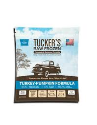 Tucker's Turkey & Pumpkin Raw Frozen Dog Food 3LB - Paw Naturals
