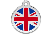 Red Dingo Enamel Pet ID Tag - 1UK - UK Flag