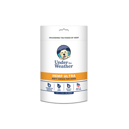 Under the Weather Hemp Soft Chews Ultra 135g 30ct for Dogs