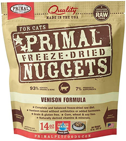 Primal Raw Freeze-Dried Venison Cat Food - Paw Naturals