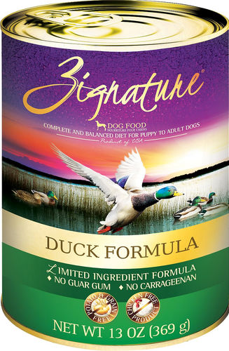 Zignature Duck 13oz Canned Dog Food