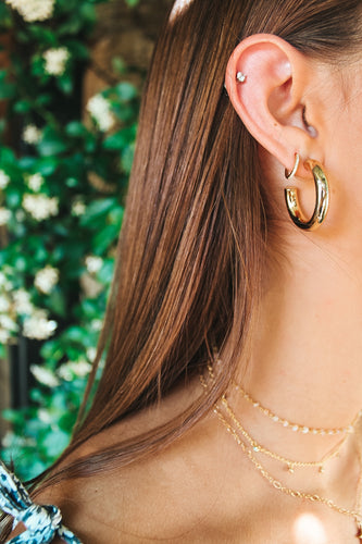 Madeline Large Gold Hoops