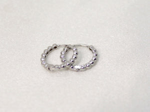 Camryn Mini Silver Dotted Hoops