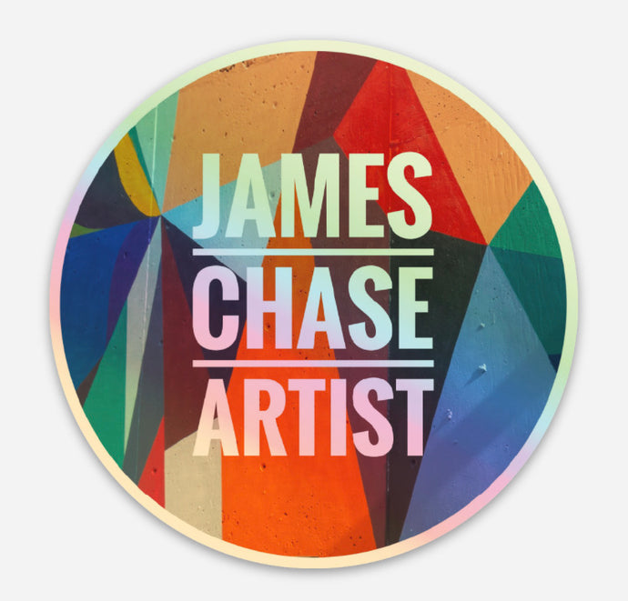 James Chase Artist Holographic sticker