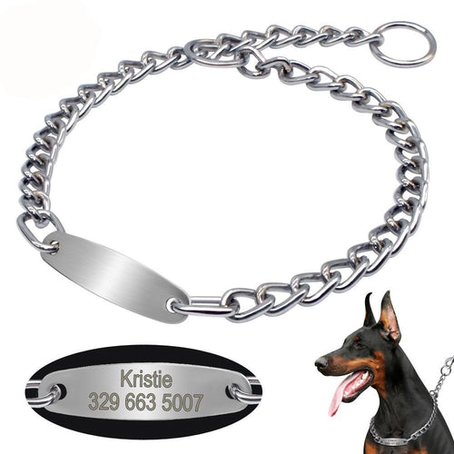 Large Dog Customised Chain Collar