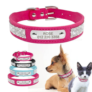 Rhinestone Engraved Collar