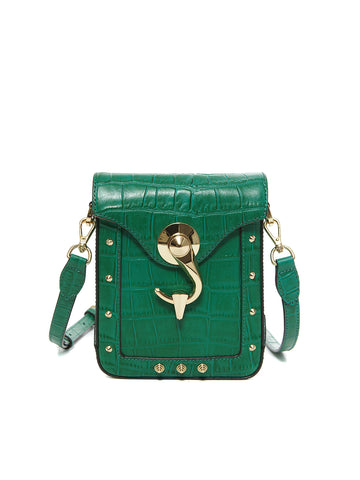 METRO BAG _ Small _ CROCO - Green