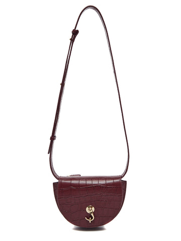 CITY BAG - CROCO - Small - Burgundy