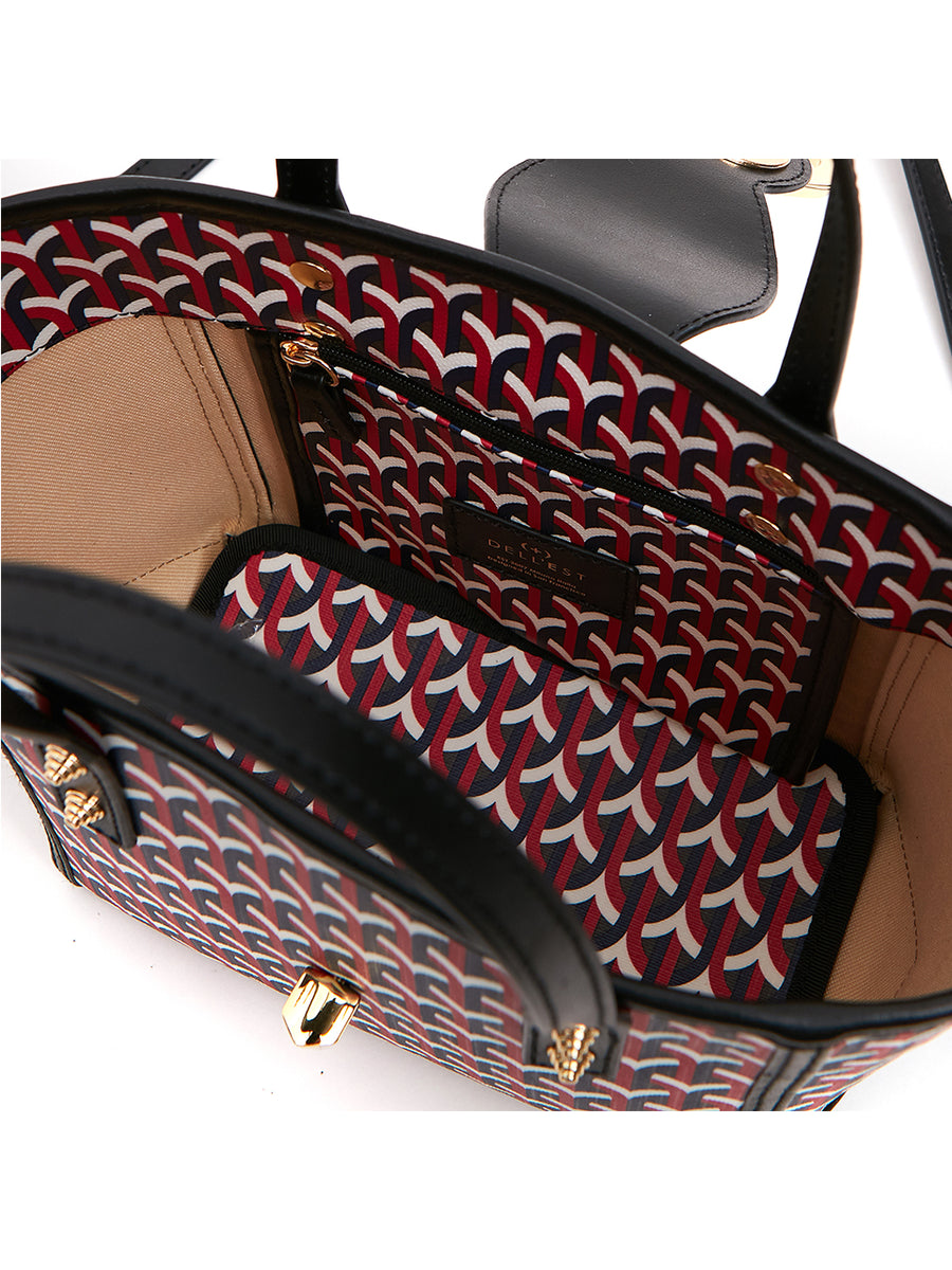 BARKIA BAG - ETNA RED _ Black