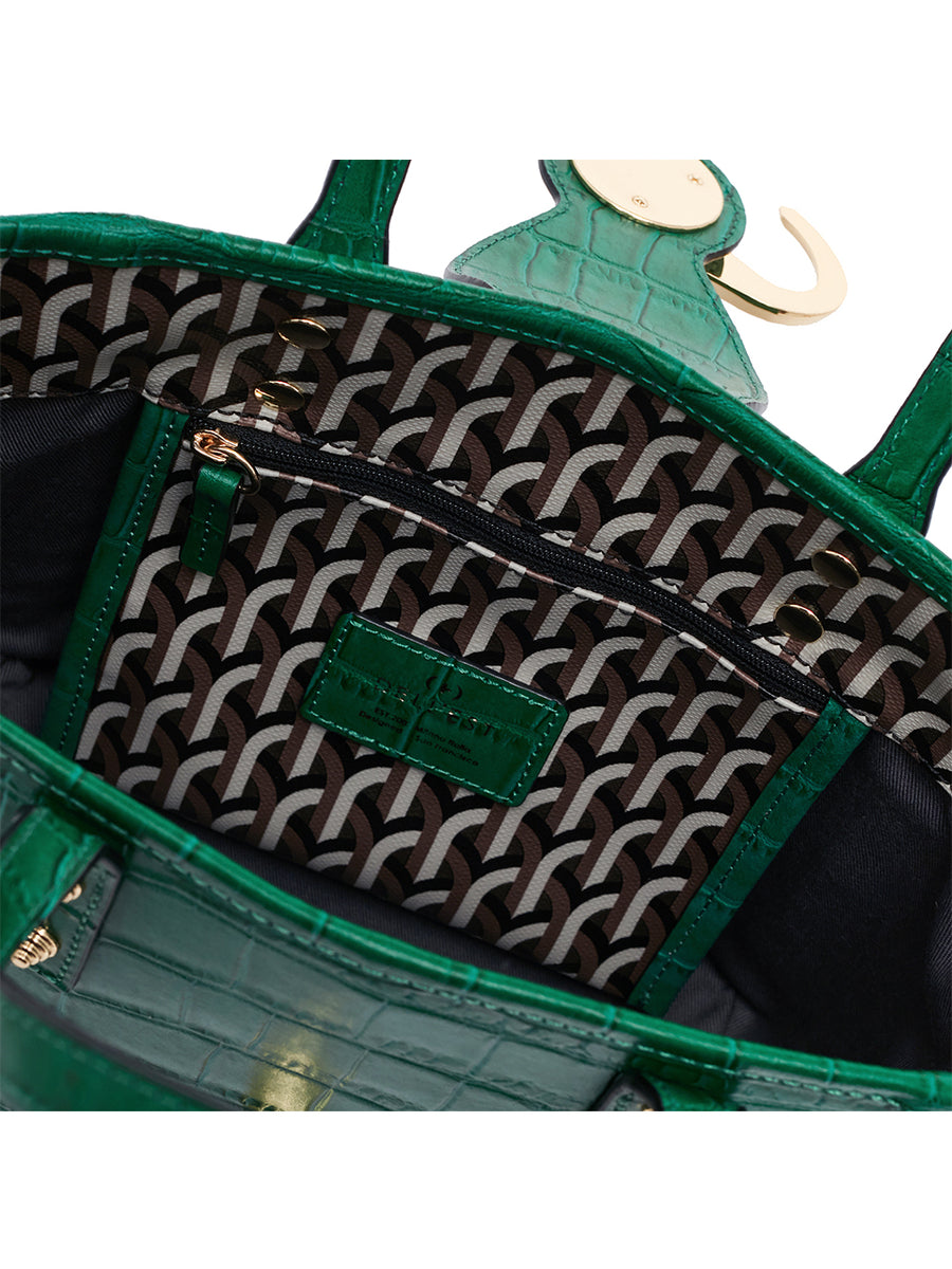 BARKIA BAG _ CROCO - Green
