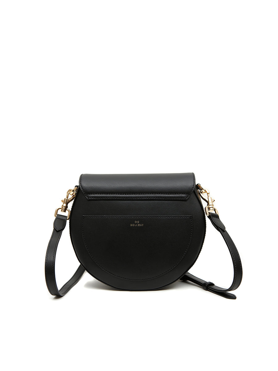 SADDLE BAG SOLID - Medium - Black