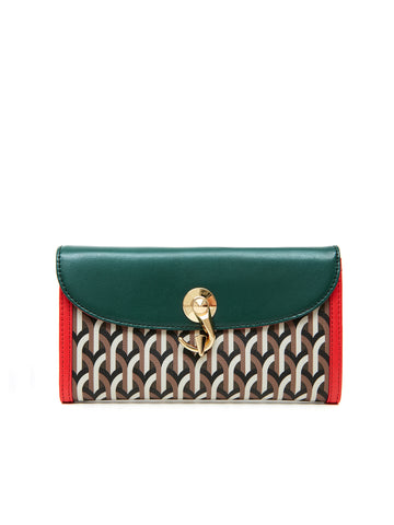 CONTINENTAL WALLET  _ Multi Green