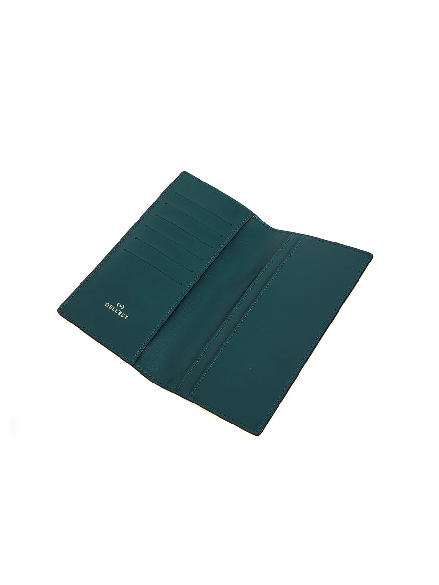 FLAT LONG WALLET  _ Moss Green - BUON GIORNO!