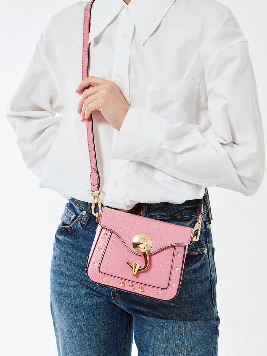 VOLLUTINO BAG _ XSmall _ CROCO - Pink