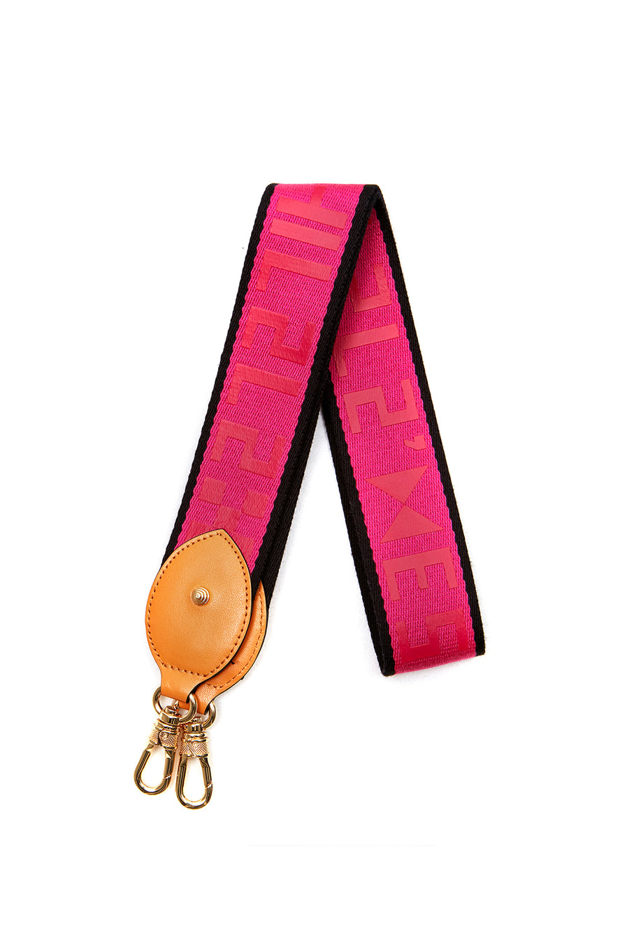 WEBBING SHOULDER STRAP _ Pink-Black - LOGO
