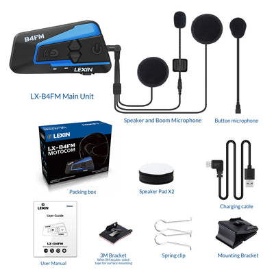 8fc9e9753e3 Motorcycle Electronics Newest 2018 Lexin 4 rider talking at the same time  with FM Motorcycle Bluetooth