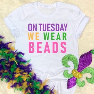 On Tuesday We Wear Beads Unisex T-Shirt