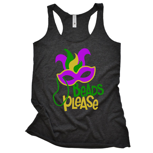 Beads Please Racerback Tank